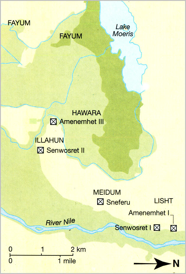 The Pyramids Of The Fayum - Map of fayoum egypt